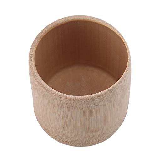 Kingus Bamboo Tea Cup Water Cup Wooden Cups for Drinking Tea Home Mug Handmade Green Tea Cup