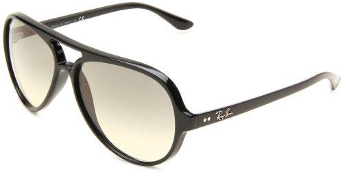 Ray Ban Unisex Sonnenbrille Cats 5000 Gestell: Schwarz, Gläser: Hellgrau Verlauf 601/32), Large (Herstellergröße: 59)