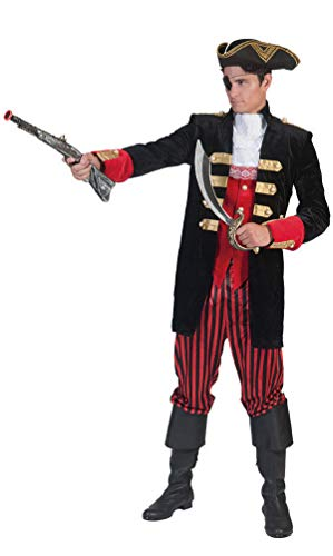 Karneval-Klamotten Piraten Kostüm Piratenjacke Herren Piratenweste und Hose Größe 52/54