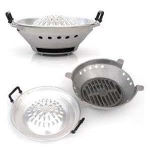 "Aluminum Thai - Loas - Korean Charcoal Barbecue Stove Grill Size 30cm or 12"""