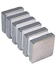 Sonal Magnetics Nickel Coated Block Magnet, 10x10x2mm, 40-Pieces