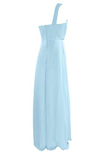 Sunvary, Glamour, guaina Sweetheart vestito da sposa Una spalla abito da sera Pageant Luce del cielo azzurro
