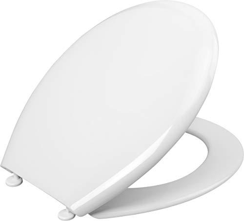Cornat WC-Sitz Palu - Klassisch weißer Look - Pflegeleichter Thermoplast - Schlichtes Design passt in jedes Badezimmer / Toilettensitz / Klodeckel / KSP00