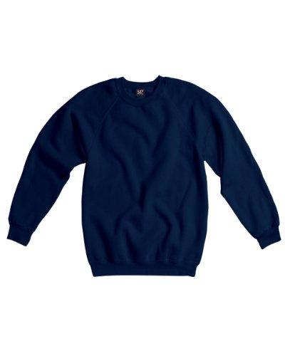 SG sg23-nb-xl Herren Raglan Sleeve Rundhalsausschnitt Sweatshirt, X-Large, Navy (5Stück) -