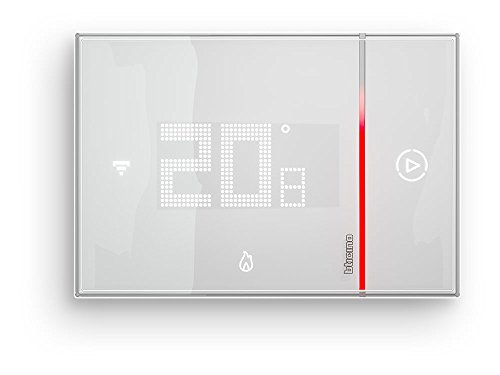 BTicino Smarther SX8000 Termostato Connesso con Wi-Fi Integrato, Fai da Te, da Incasso, Bianco