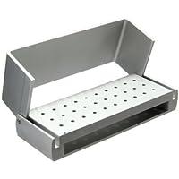 Generic 30 Holes Aluminium Dental Bur Box Burs Holder Block Case