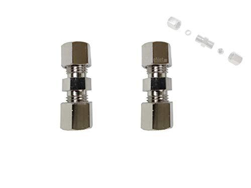 2x Bremsleitungsverinder für Bremsleitung 8mm bördelfreie Schnellverbinder
