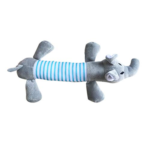 DDG EDMMS Dog Haustier Hund Plüsch Stimme Quietschen Elefant Spielzeug Hund Zähne Spielzeug (Grauer Elefant) Heulen