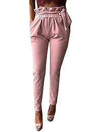 714b807c7cb6d8 Tempo Libero Pantaloni Donna Pantaloni Fit Waist A Slim High Abbigliamento  Festivo Matita Fashion Eleganti Accogliente