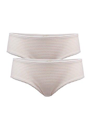 hessnatur Damen-Wäsche Hipster PureDAILY im 2er-Set aus reiner Bio-Baumwolle schwarz, weiß, blau, rosa 34, 36, 38, 40, 42, 44, 46, 48 (Damen-bio-baumwoll-jersey)