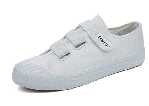 SHFANG Scarpe Donna Scarpe Amoi Basse Aiuto Flat Shoes Bottoni Subacquei Movimento Leisure Movimento Quattro colori Studenti Daily White
