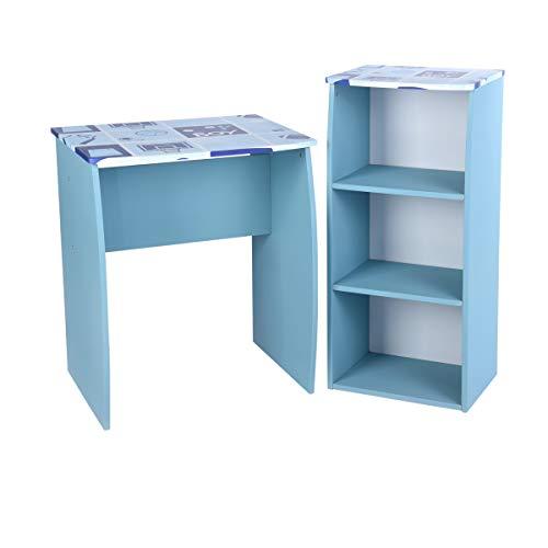 Aingoo Kindersitzgruppe Kinderschreibtische mit Bücherregal Perfekt zu Sein Schülerschreibtisch...