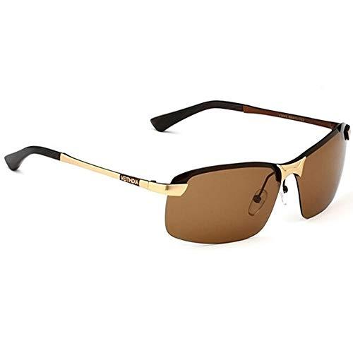 ZHOUYF Sonnenbrille Fahrerbrille Original Brand Logo Designer Fahren Herren Polarisierte Sonnenbrillen Fashion Eyewear Uv400 Sonnenbrille, C.