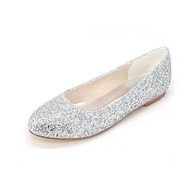 Confortevole ed elegante piatto scarpe donna Appartamenti Primavera Estate Autunno altri Glitter party di nozze & serata informale tacco piatto oro nero nastro altri Gold