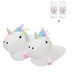 Zapatillas de Felpa Unicornio Mujer