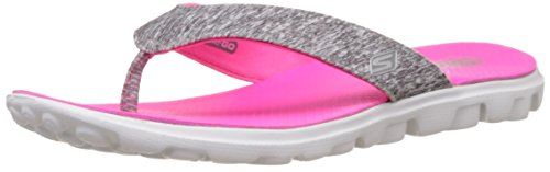 Skechers Damen On the Go Flow Pantoletten, Grau (GYHP), 38 EU Flip-flop-mat