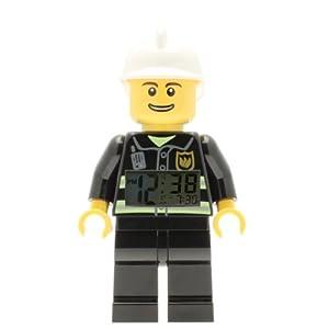 Lego Sveglia retroilluminata City 9003844 per bambini minifigure pompiere   nero/bianco   plastica   altezza: 24 cm… 5060286800003 LEGO