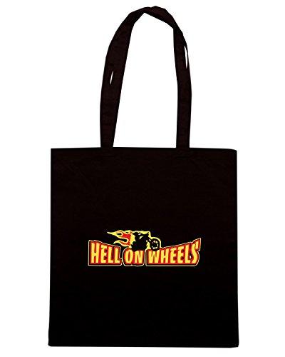 T-Shirtshock - Borsa Shopping TB0006 hell on wheels Nero