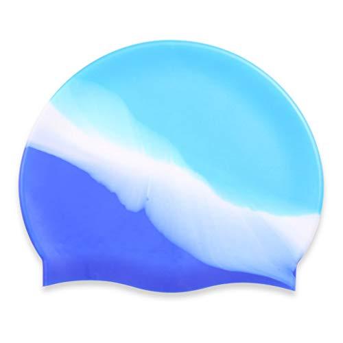 Cuffie da nuoto for capelli lunghi impermeabili professionali in silicone for capelli moda femminile xuan - worth having (color : blue)