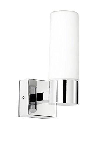 WOFI Klassische LED Wandleuchte fürs Bad, Spiegelleuchte ARTUS in Chrom und Glas, 4623.01.01.0044