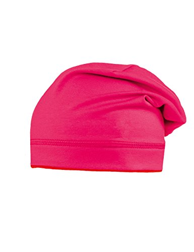 maximo Beanie, Jersey, Uni, Upf 50+ - Bonnet - Fille Rouge - Rot (dunkelpink/rot 5702)