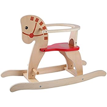 ak sport wooden rocking horse chair toys games. Black Bedroom Furniture Sets. Home Design Ideas