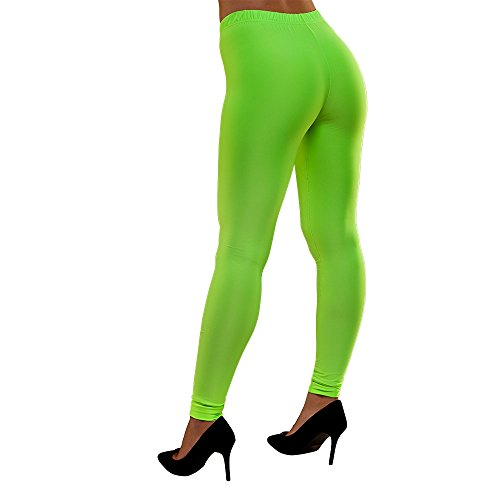 Adults Neon 80s Leggings in 4 Colours - small, medium