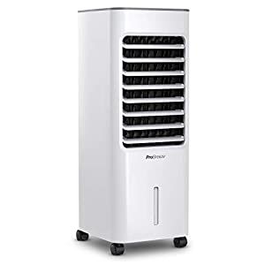 Pro Breeze® Climatizador Evaporativo Portátil 5L con 4 Modos de Funcionamiento, 3 Velocidades de Ventilador, Pantalla…