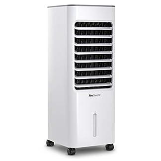 Pro Breeze® Climatizador Evaporativo Portátil 5L con 4 Modos de Funcionamiento, 3 Velocidades de Ventilador, Pantalla LED y Control Remoto. De Alta Potencia con Temporizador y Oscilación