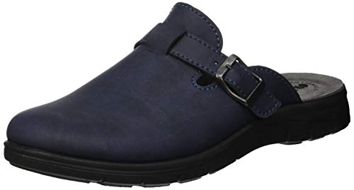 inblu Big Jim, Pantofole Aperte sul Retro Uomo, (Blu 004), 44 EU