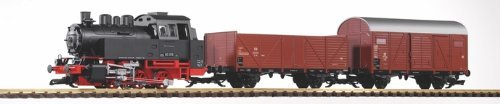 PIKO G SCALE MODEL TRAINS - DB BR80 FREIGHT STARTER SET WITH ANALOG SOUND (120V) - 38120 by Piko