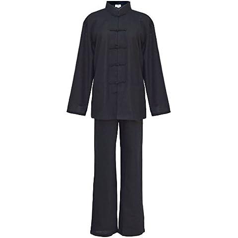 Mujer Tai chi uniforme artes marciale, ropa traje de Kung fu y Qi gong de algodón y lino