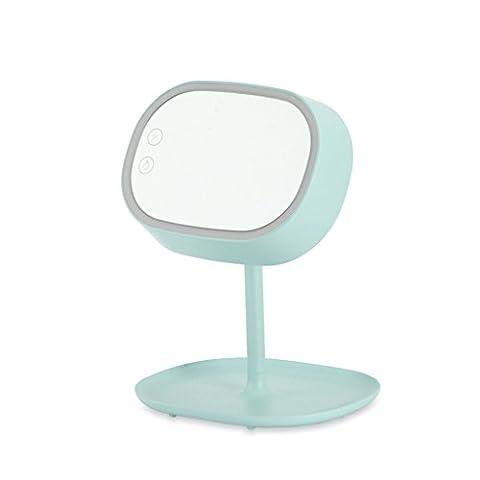 Multifunktionale Make-up Spiegel Tisch Lampe Sammlung Bunte Prinzessin Trinokular Spiegel Dresser ( Color : Green )