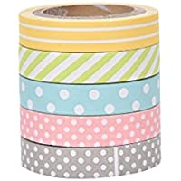 westeng 5x decorativo di carta giapponese Tape arco iris rotoli di carta per scrapbooking diy