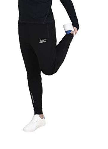 Finz Men's Joggers for Men, Jeggings for Men, Sports Wear for Men, Man Leisure Wear, Black Color Trackpants with Two Side Zipper Pocket for Sports Gym Athletic Training Workout Running Cricket