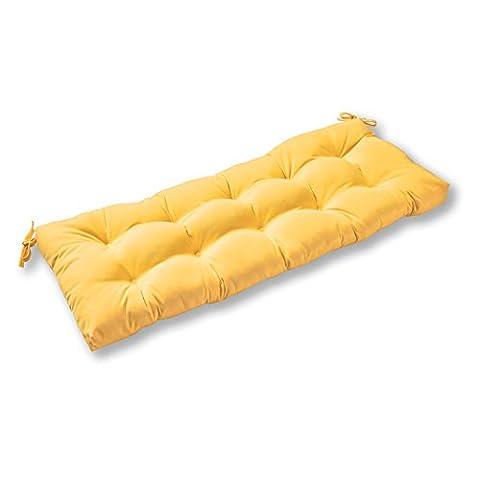 Sunbrella Tissu extérieur Swing/Coussin pour banc, 117cm, bouton d'or