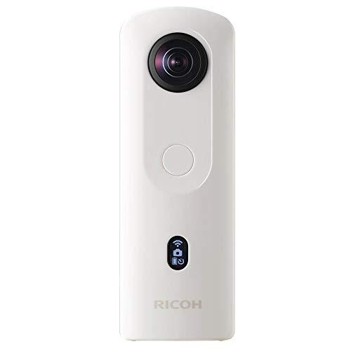 RICOH Theta SC2 WEIß, 360°-Kamera mit Bildstabilisierung, hohe Bildqualität, High-Speed Datentransfer, Nachtaufnahmen mit geringen Bildrauschen, klein & leicht, für IOS und Android