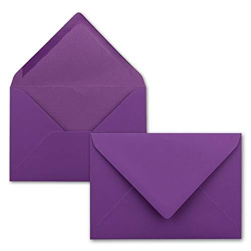 100 Brief-Umschläge - Brombeere - DIN C6-114 x 162 mm - Kuverts mit Nassklebung ohne Fenster für Gruß-Karten & Einladungen - Serie FarbenFroh®