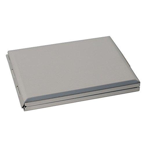 HAB & GUT -TEL-MIR- Specchio Tascabile con rubrica, Colore Argento Opaco, 7,8 x 5,8 x 0,8 cm