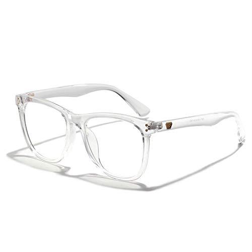 ZRDY Blocking Glasses Frames Frauen Retro Anti Blu-ray Brillengestell Männer Vintage Transparente Brillen (Frame Color : Clear)
