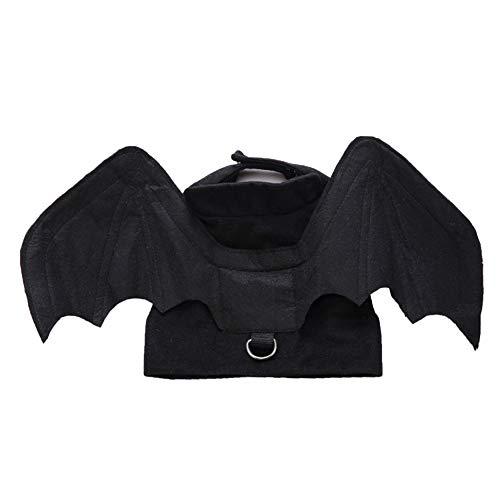 Disfraz de alas de murciélago de mascota de Halloween, disfraz de cosplay de perro Murciélago de vampiro de Halloween Disfraz de ala Accesorios de ropa Accesorio de ropa para cachorro de perro gato
