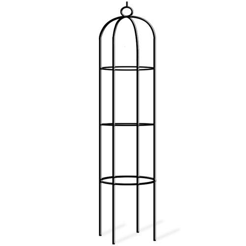 Deuba Rosensäule Rosenbogen Rankgitter Obelisk Rankhilfe | 200 x 40cm | pulverbeschichtetes Metall | witterungsbeständig