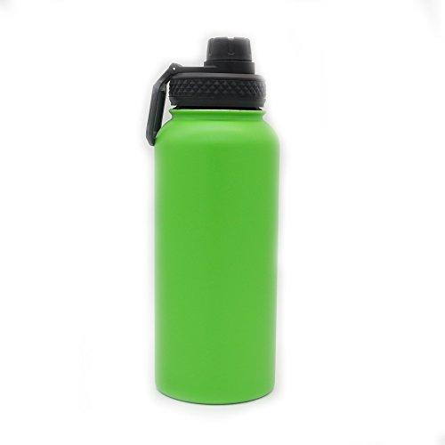 Yitye doppio in acciaio inox sport bottiglia d' acqua per bere tazza termica da viaggio escursionismo & design moderno, 1000ml, green
