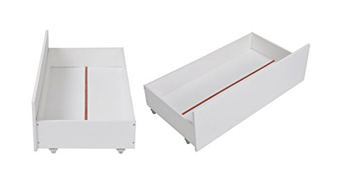 Naturale robusto telaio letto in pino massiccio da riporre, con cassetti, bianco drawer set white(solo cassetto)