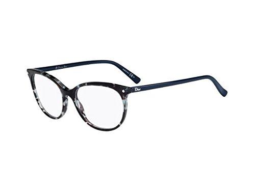 Dior Brillen Für Frau CD3284 LBT, Green Tortoise / Blue Kunststoffgestell