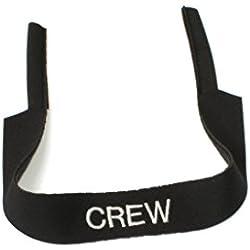 Banda de neopreno para gafas, con o sin estampado, universal, banda deportiva, schwarz-Crew, schwarz-Crew