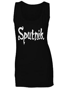 Novedad divertida del sputnik camiseta sin mangas mujer d404ft