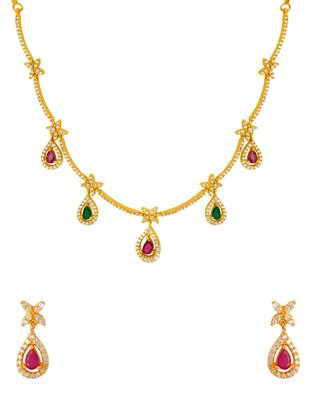 Voylla Gold Plated Jewellery Set for Women (8907617404219)