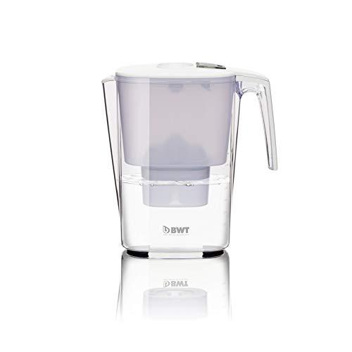BWT - 815470 - Tischwasserfilter SLIM - 3,6 l, weiß - Wasserfilterkanne mit 1 Filter-Kartusche für Magnesium Mineralized Water