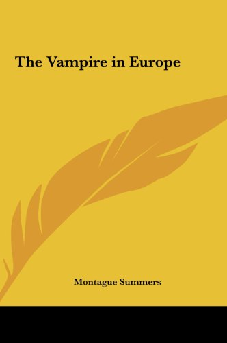The Vampire in Europe